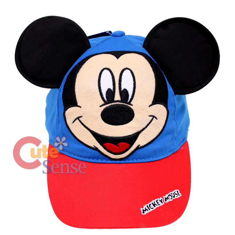 c7ad5114c8c Disney Mickey Mouse Baseball Cap Hat with 3D Ears Kids Adjustable