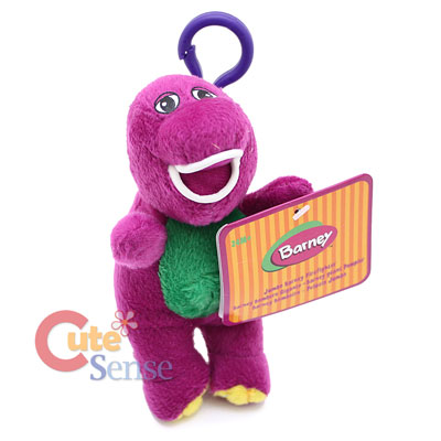 Barney Clip On Plush Key Chain 1.jpg