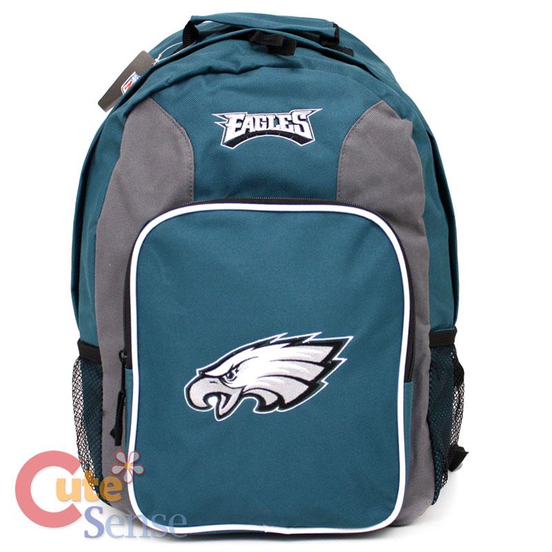 """Details about NFL Philadelphia Eagles School Backpack 16""""Large Bag"""