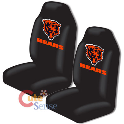 NFL Chicago Bears Car Seat Cover Auto Accessories Set 2pc