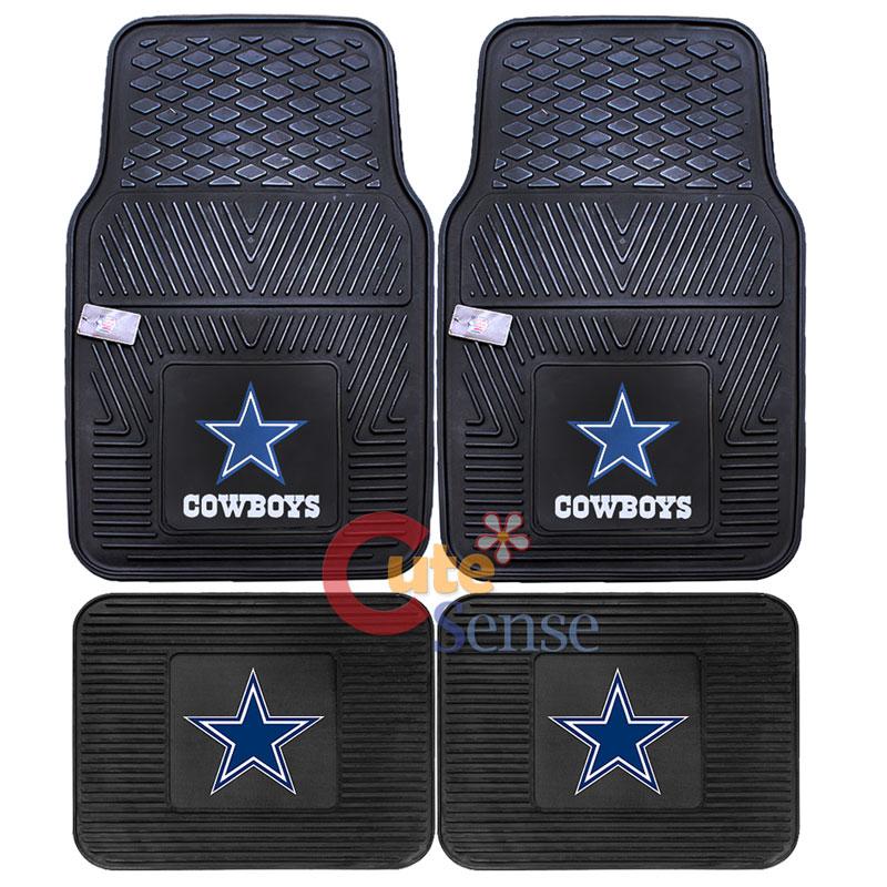 Dallas Cowboys Car Floor Mat 4pc Rubber Utility Fanmats