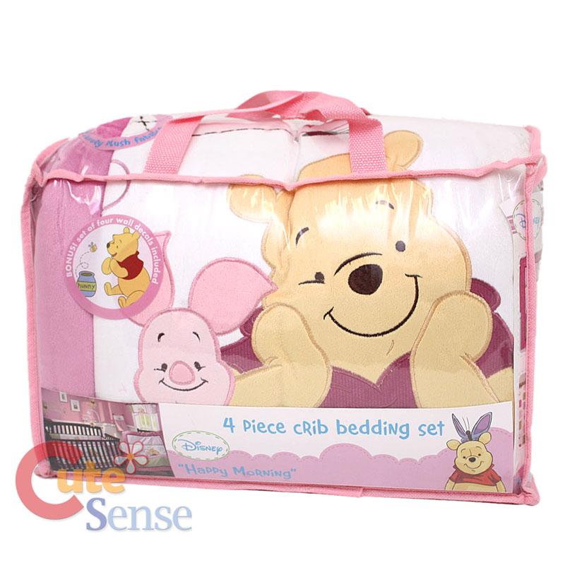Winnie the Pooh with Piglet Baby Crib Bedding Set :Pink ...