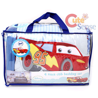 Baby Cradle Bedding Sets on Cars Mcqueen Mater Baby 4pc Crib Bedding Set At Cutesense Com