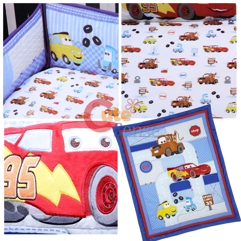 cars mcqueen with mater baby 4pc crib bedding set ebay