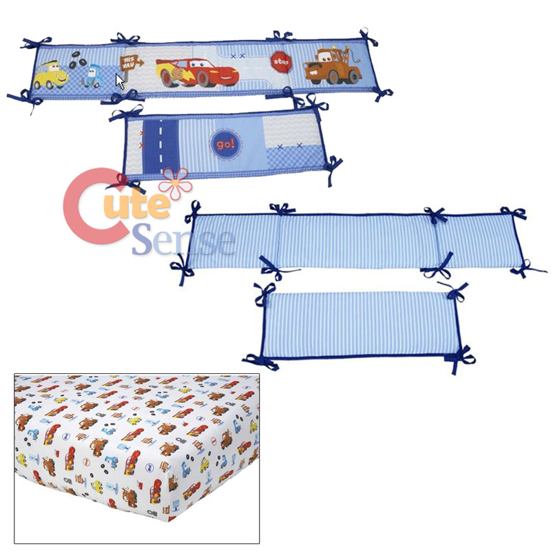 Cars McQueen With Mater Baby 4pc Crib Bedding Set