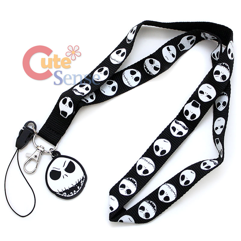 Nightmare Before Christmas Jack Lanyard Key Chain ID Holder 2.jpg