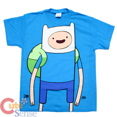 ebe992e51af Adventure Time Finn and Jake Finn Kids T-Shirt   X- Large