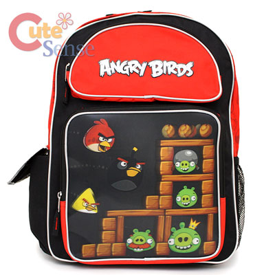 Rovio Angry Birds 3D School Backpack Large Bag 1.jpg