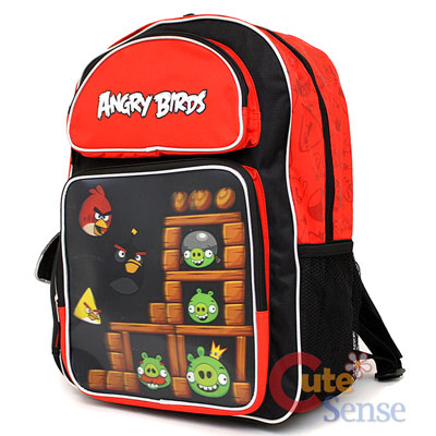 Rovio Angry Birds 3D School Backpack Large Bag 2.jpg