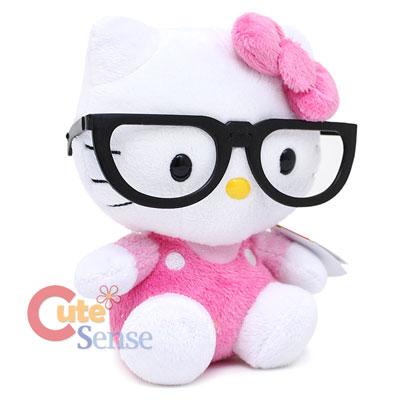 Hello kitty nerd glasses