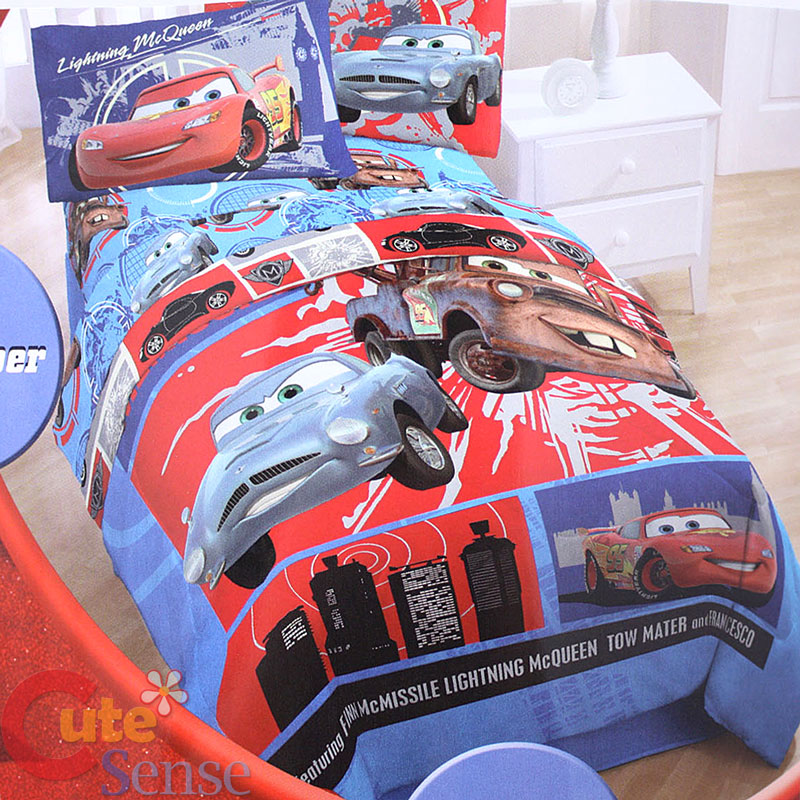 Popular Disney Cars Twin Bed. Disney Pixar Cars 39 Grand Prix 39 7 Piece Bed In A Bag With