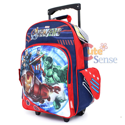 Side School Bags on Avengers School Roller Backpack 16  Large Rolling Bag At Cutesense C