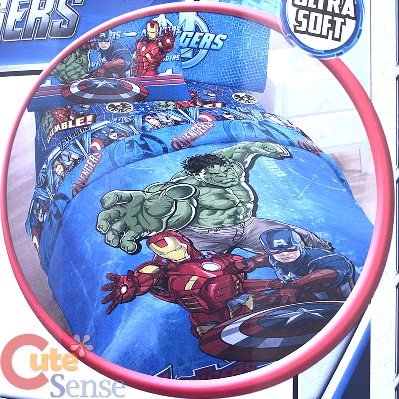 Marvel Avengers 4pc Twin Bedding Comforter Set Iron Man