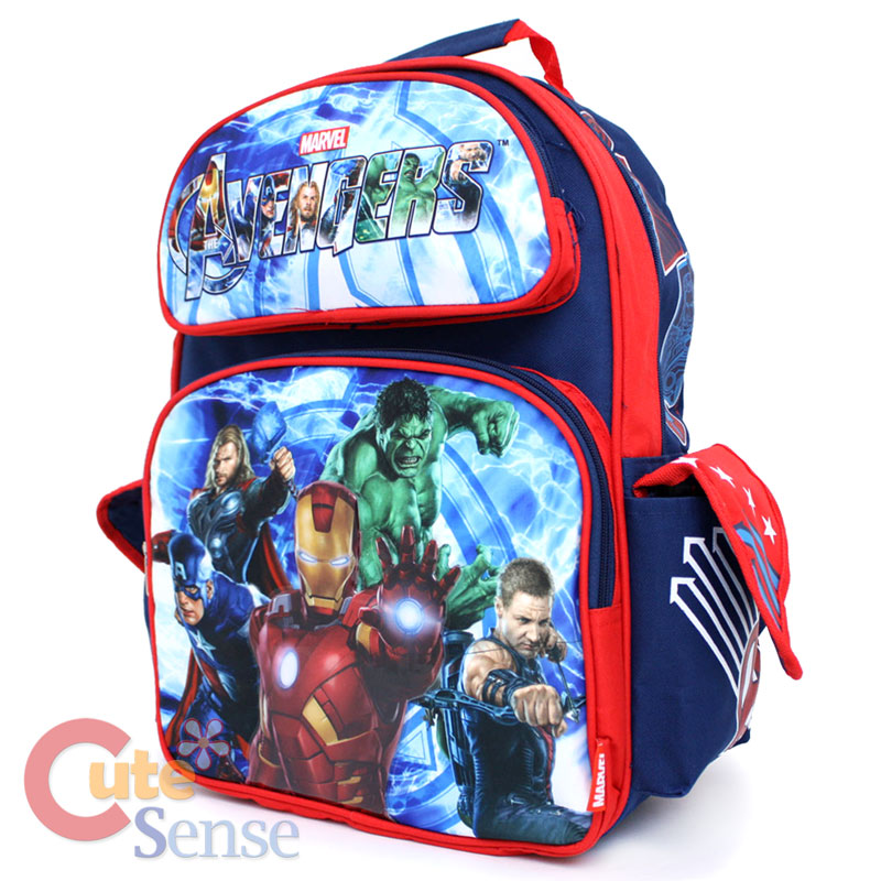 Marvel Avengers School Backpack Lunch Bag Iron Man Hulk Bag 1.jpg