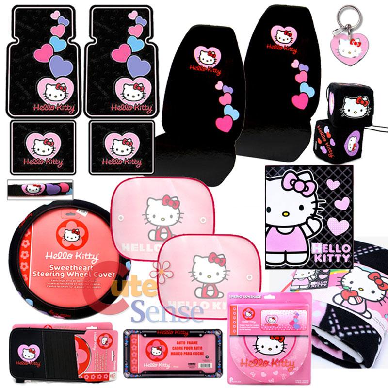 Hello Kitty Car Seat Covers Auto Accessories Set 15pc Ebay