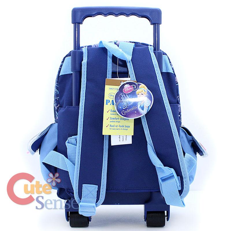 Disney Princess Cinderella School Roller Backpack 12 Medium Bag