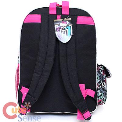 Monster High School Backpack Group 16 034 Large Bag Skeleton Logo ...