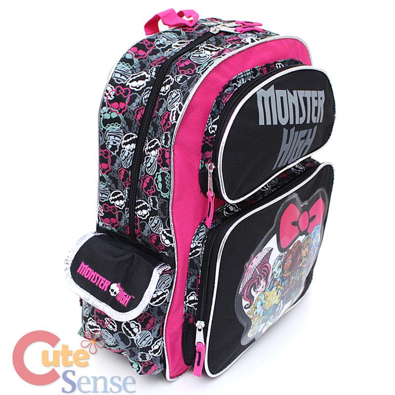 "Monster High School Backpack Group 16"" Large Bag ..."