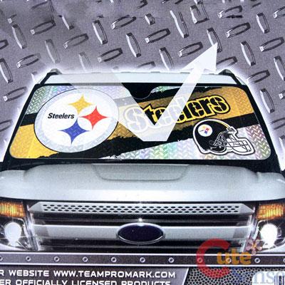 NFL Pittsburgh Steelers Car Windshield Front Window Sun Shade