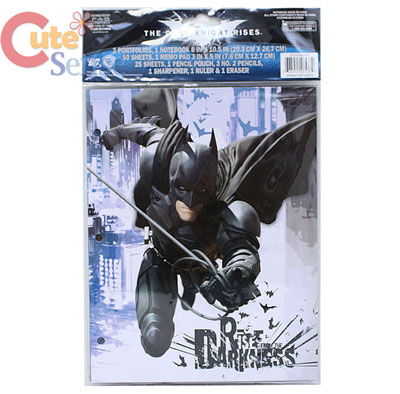 BatMan School Stationery Set Study Kit Dark Knight Rises 2.jpg