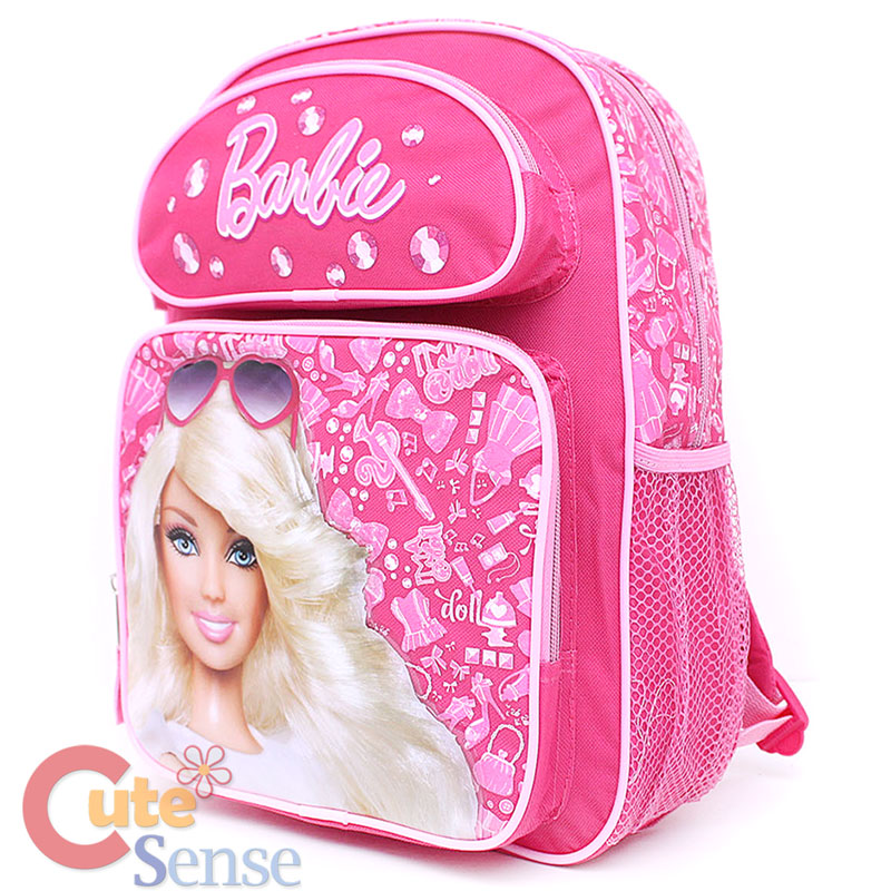 Barbie School Large Backpack Pink Jewels Bag 2 Jpg