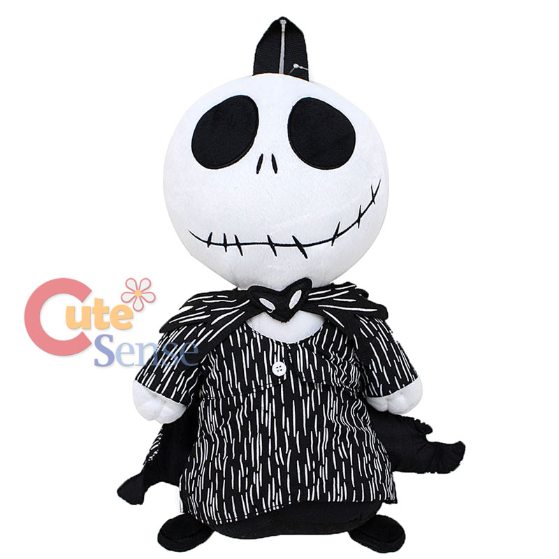 The Nightmare Before Christmas Plush Backpack Clips Jack Skellington NEW