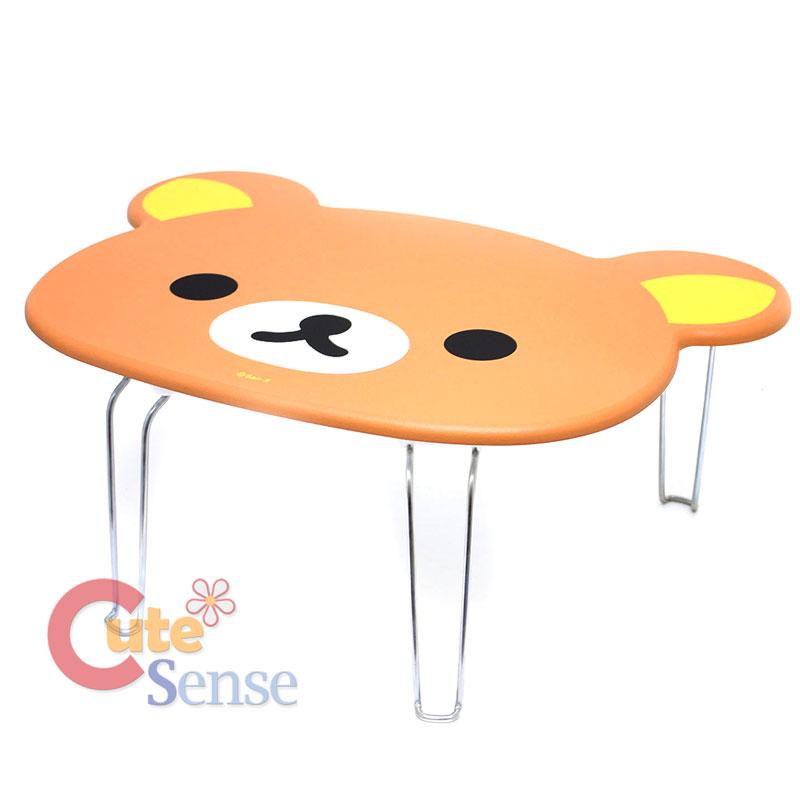 San X Rilakkuma Face Cut Folded Wooden Table Work Table