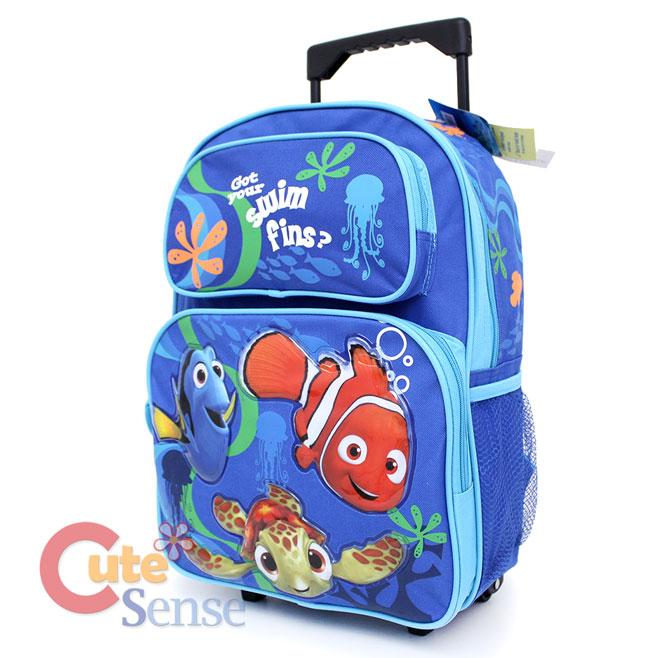 "Finding Nemo School Roller Backpack 16"" Large Rollling ..."