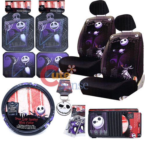 Nightmare Before Christmas Jack Low Back Car Seat Cover Set Auto ...