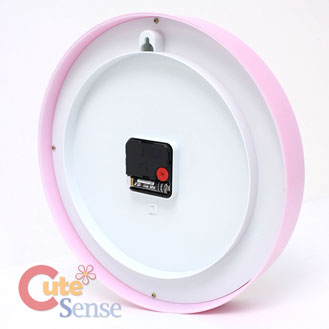 Sanrio Hello Kitty Pink Dots Wall Clock Slient Movement Watch 2.jpg