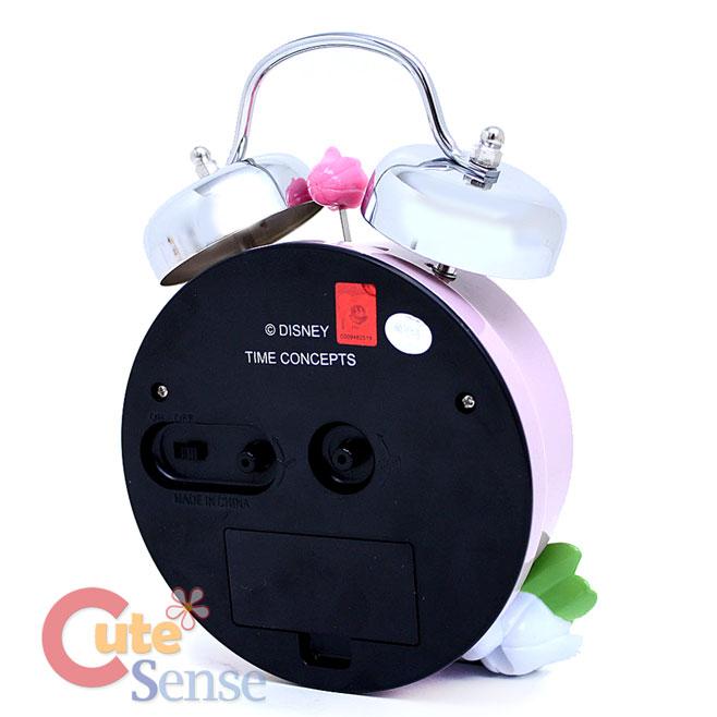 Disney Princess Cinderella Bell Alarm Clock with Flowers Figure Watch