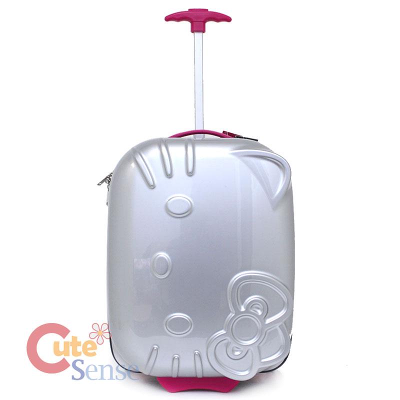 8d16fb0d2520 Hello Kitty face ABS Luggage Trolley Hard Case Silver 1.jpg