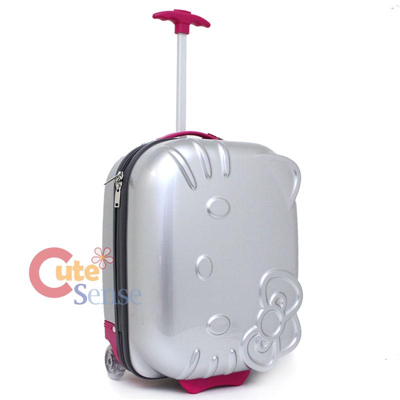 d87da4273c02 Hello Kitty face ABS Luggage Trolley Hard Case Silver 2.jpg