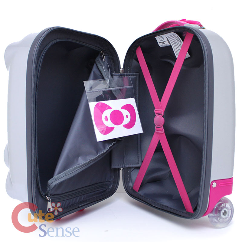 Hello Kitty face ABS Luggage Trolley Hard Case Silver 5.jpg fd04602f68