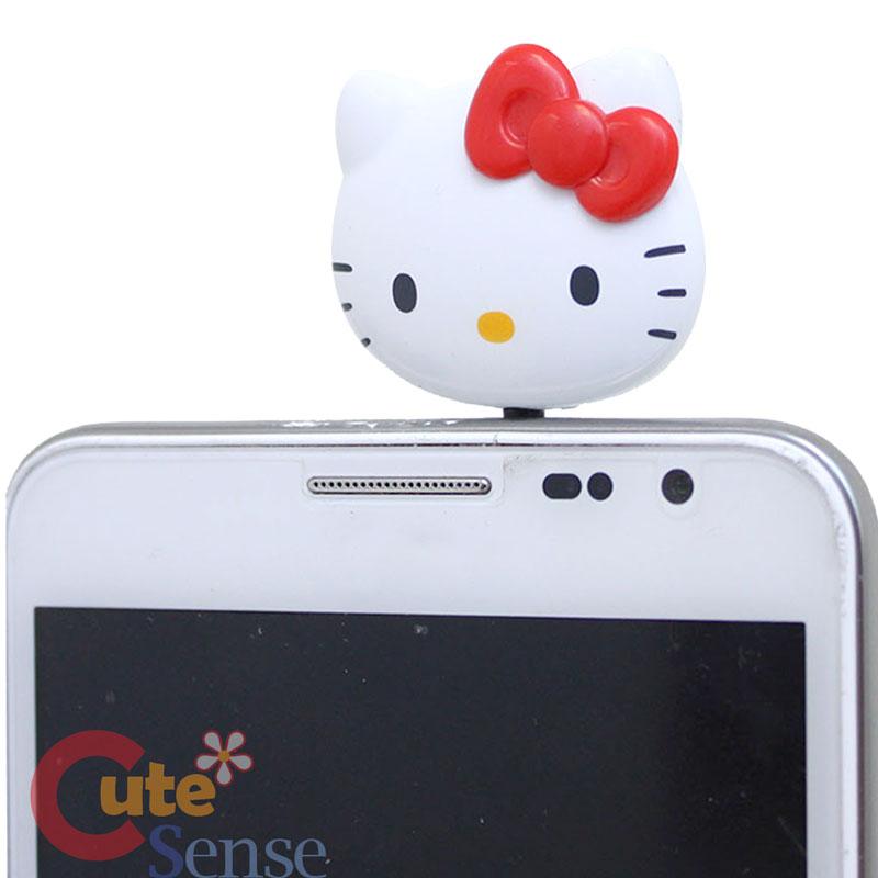 Sanrio Hello Kitty Face Phones Topper Headphones Jack Cap Phone Accessories