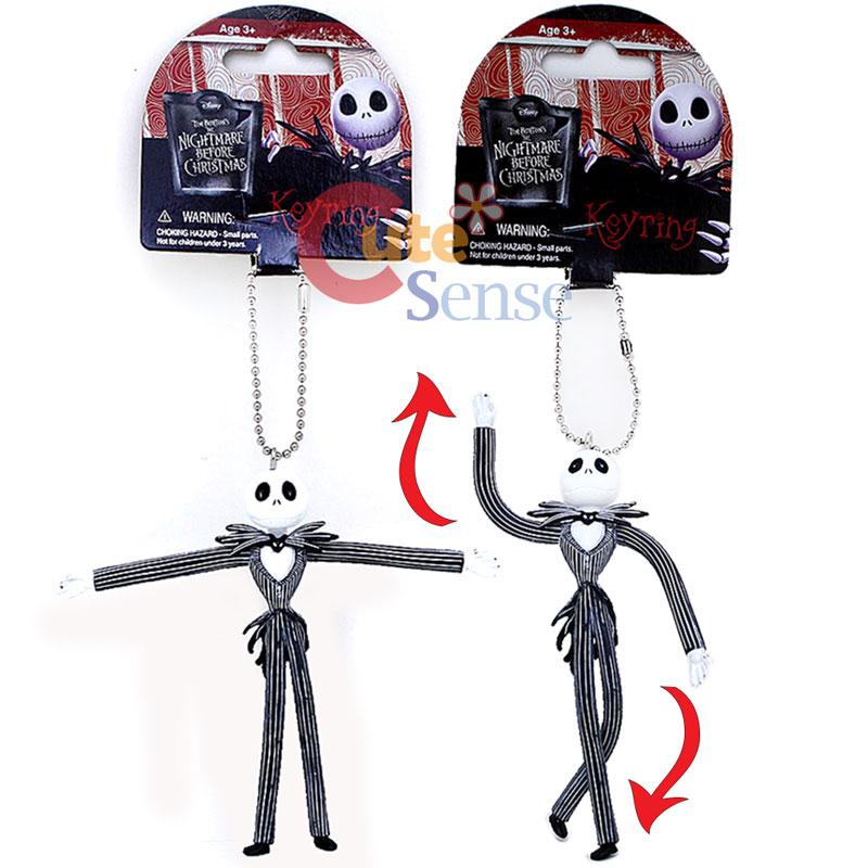 Nightmare Before Christmas Jack Bandable PVC Key chain Figure Key ...