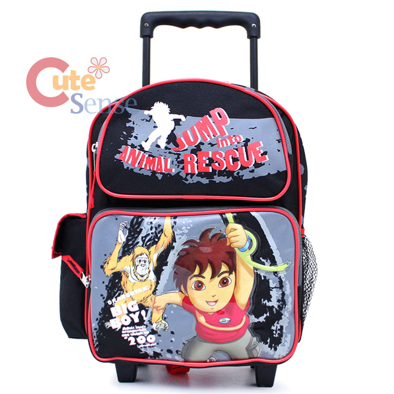 "Go Diego Go School Rolling Backpack Toddler 12"" Roller Bag ..."