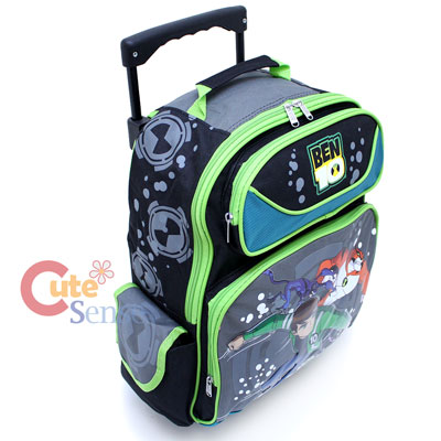 "Ben 10 Alien Force Roller School Backpack 16"" Large Bag with Rath"