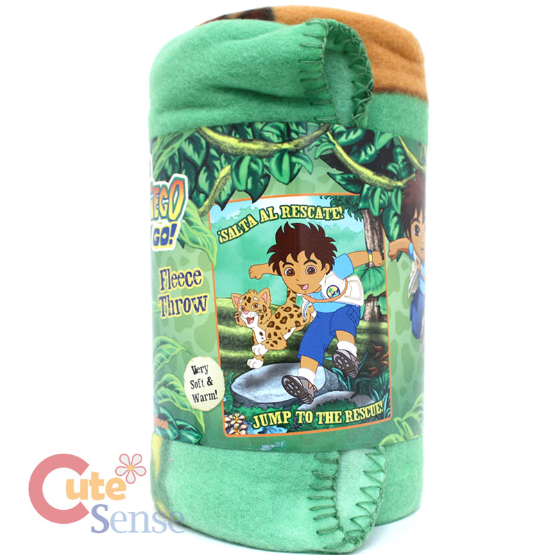 Details about dora the explorer diego fleece throw blanket for Go diego go bedding
