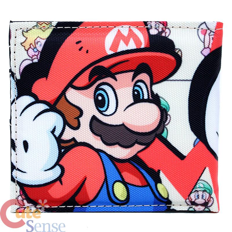 Nintendo Super Mario Kids Wallet Canvas Bi Fold Game Wallet
