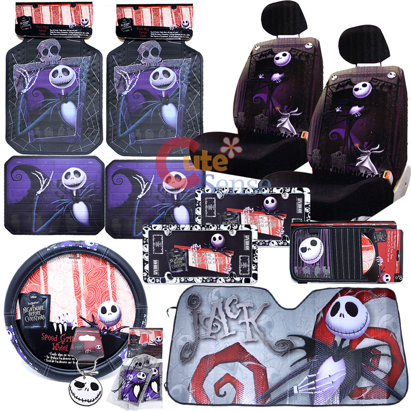 Nightmare Before Christmas Jack Low Back Car Seat Cover Set License ...