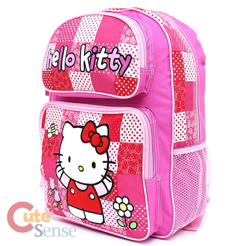 "Sanrio Hello Kitty School Backpack 14"" Medium Book Bag ..."