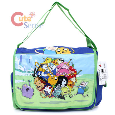 adventure time massive island school messenger bag ball play. Black Bedroom Furniture Sets. Home Design Ideas