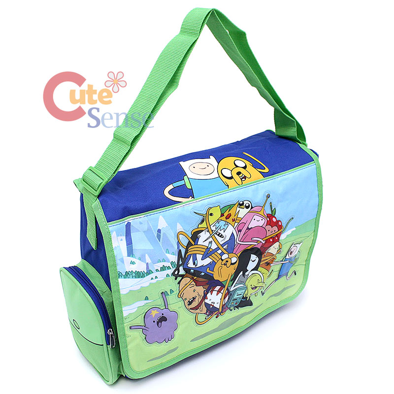 adventure time school messenger bag diaper shoulder jake finn bag ball play ebay. Black Bedroom Furniture Sets. Home Design Ideas