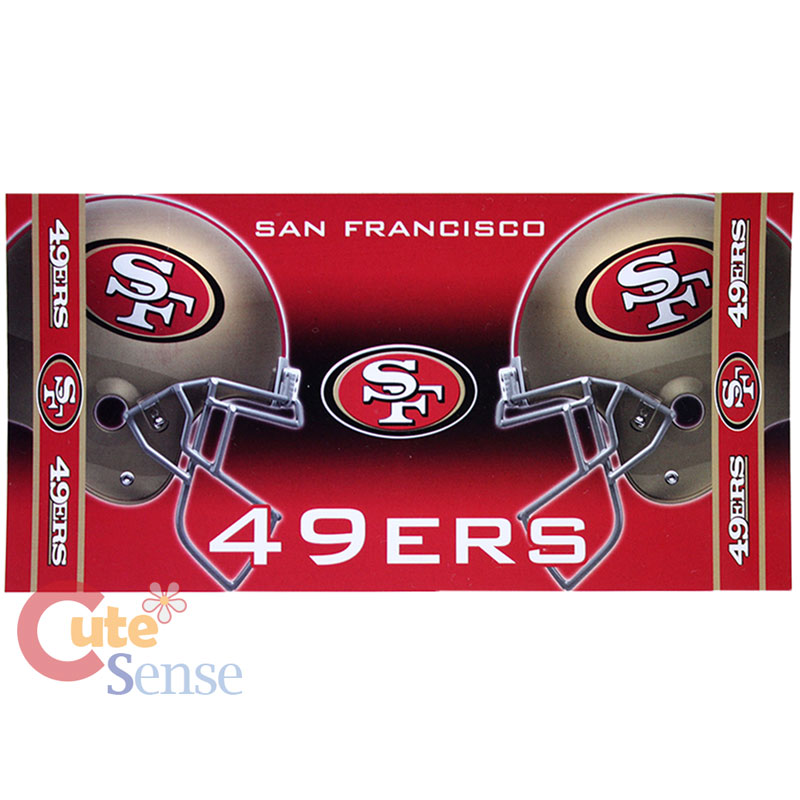 NFL San Francisco 49ers Beach Towel Bath Towel 30x60 Cotton Twin Helmet Logo