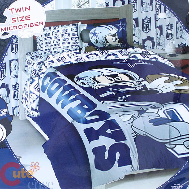Mouse Cowboys Player Comforter 3pc Nfl Disney Sheet Pillow Bedding Set