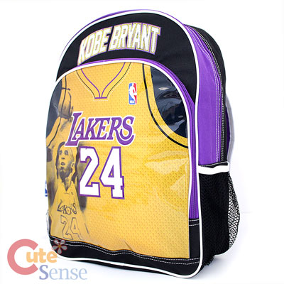 NBA Los Angeles Lakers Kobe Bryant School Backpack Large Bag