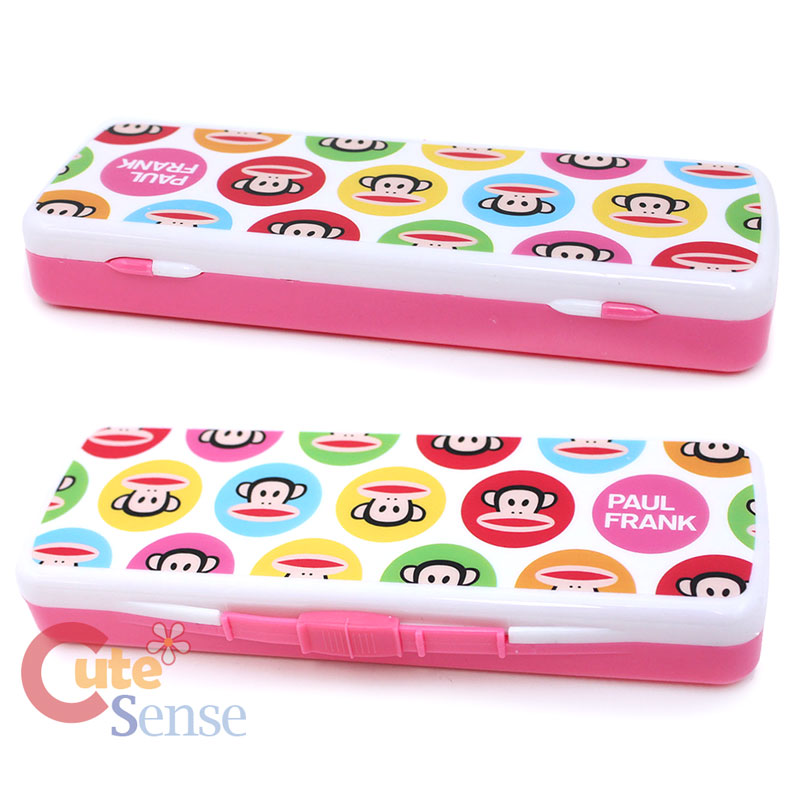 Paul Frank Bedroom In A Box: Paul Frank Plastic Pencil Case Slip Open Box -Pink Bubble