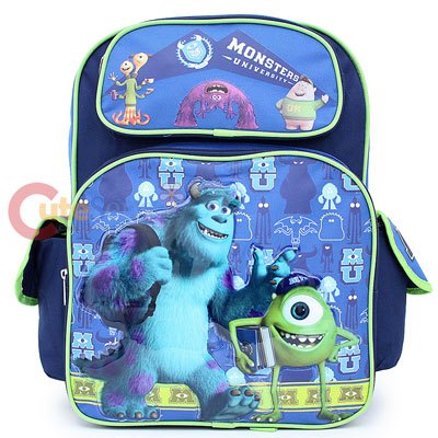 e8ebae8aef2 Monsters University Sulley and Mike Large School Backpack 16in Large ...