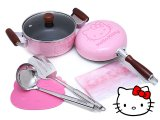 Sanrio Hello Kitty Pink kitchen Cookware Set